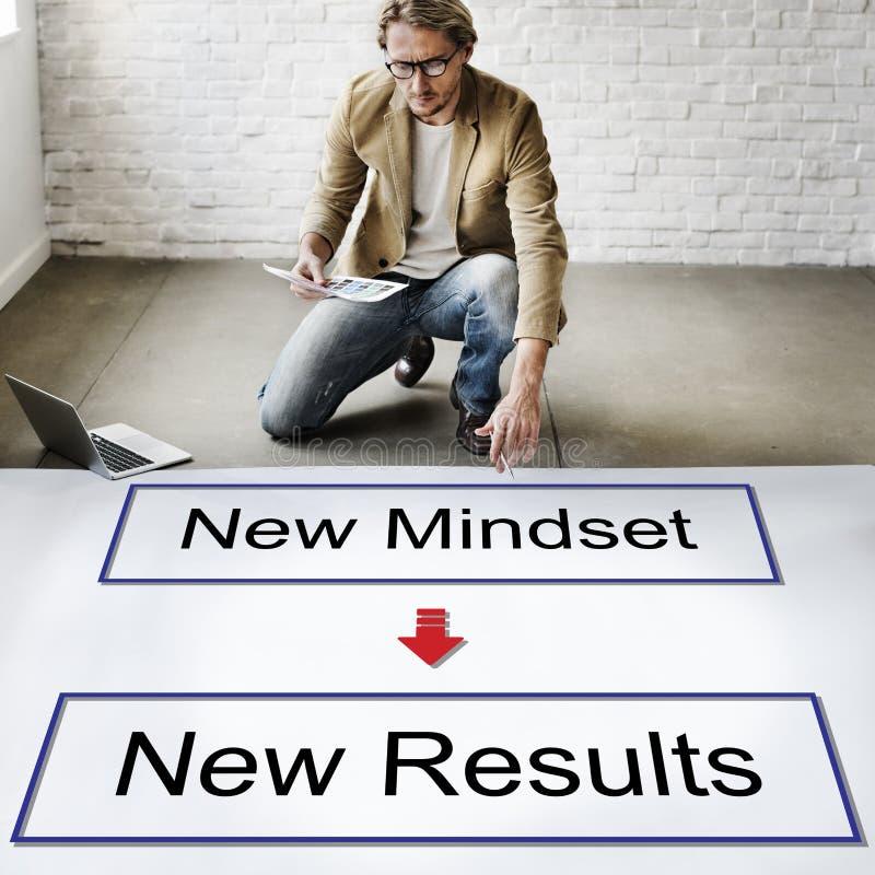 Mindset oposto ao conceito de pensamento da negatividade da positividade foto de stock royalty free