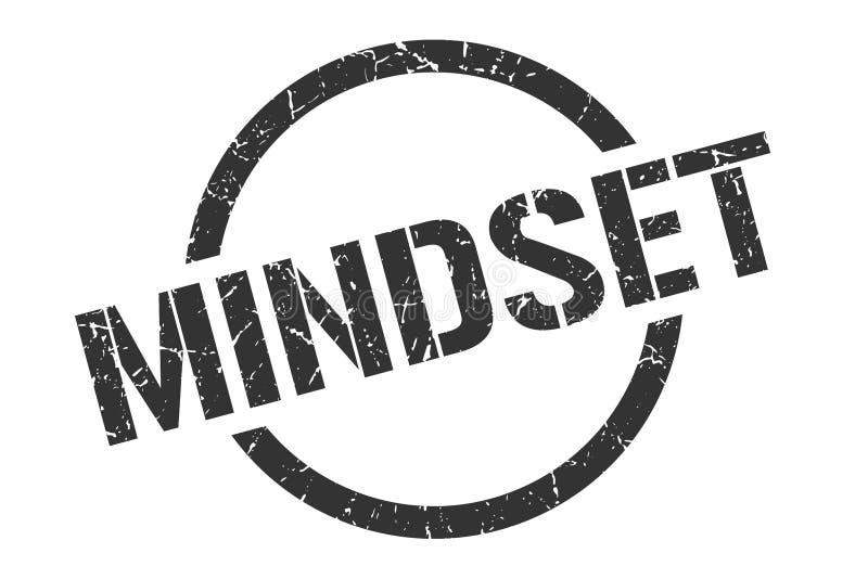 Mindset stamp. Mindset round grunge stamp. mindset sign. mindset royalty free illustration