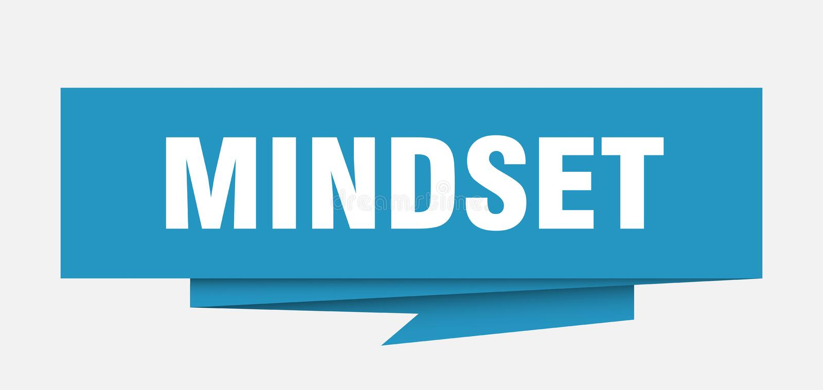 Mindset. Sign.  paper origami speech bubble.  tag.  banner vector illustration