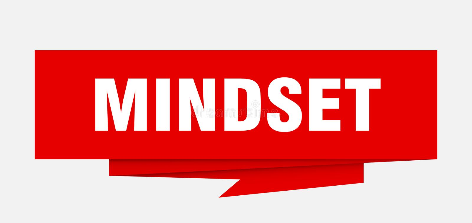 Mindset. Sign.  paper origami speech bubble.  tag.  banner royalty free illustration