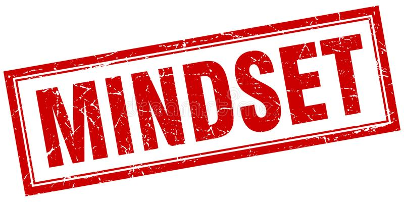 Mindset stamp. Mindset square grunge stamp. mindset sign. mindset royalty free illustration