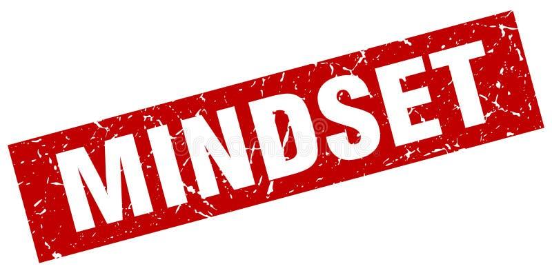 Mindset stamp. Mindset grunge vintage stamp isolated on white background. mindset. sign stock illustration