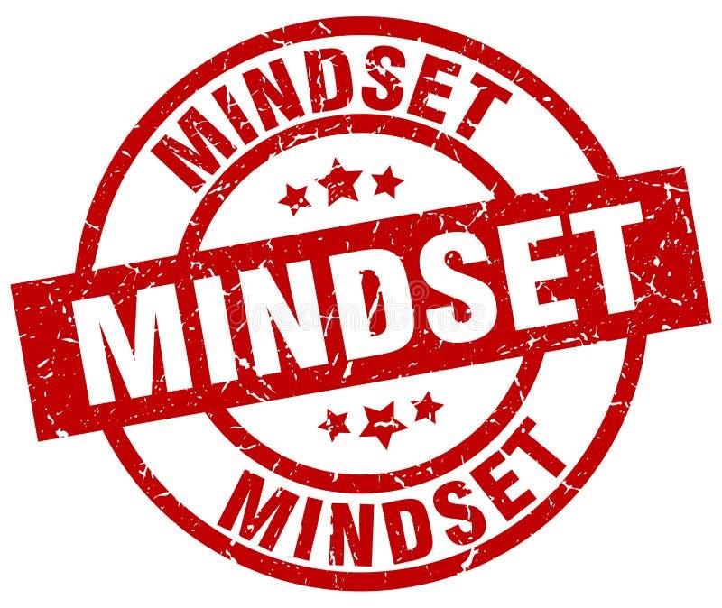Mindset stamp. Mindset grunge vintage stamp isolated on white background. mindset. sign royalty free illustration