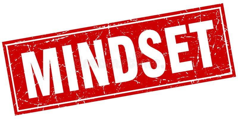 Mindset stamp. Mindset square grunge stamp. mindset sign. mindset vector illustration