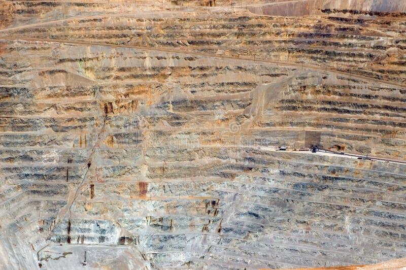 Mine à ciel ouvert photographie stock libre de droits