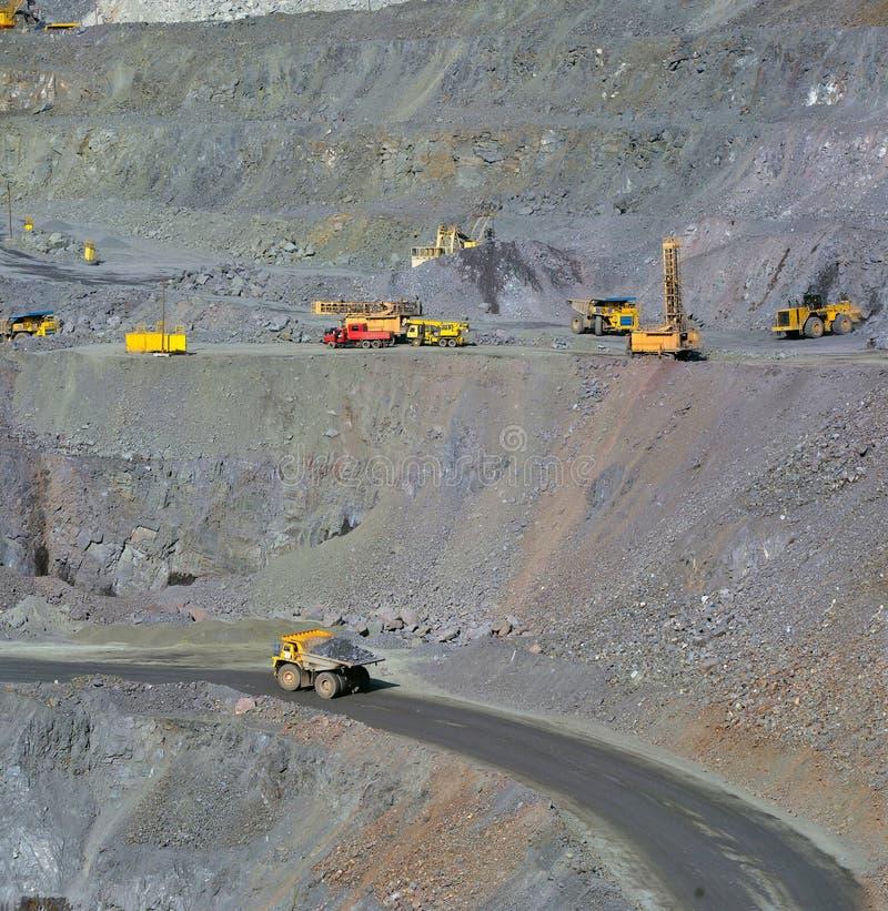 Mine à ciel ouvert de minerai de fer photographie stock libre de droits