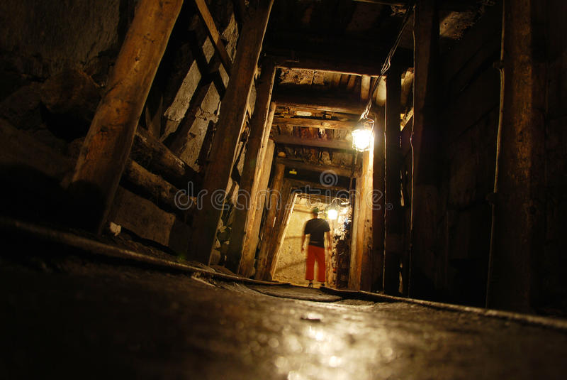 Mine stock image