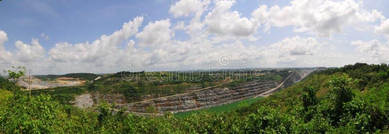 Mine d'or ghanéenne de mine ouverte image libre de droits