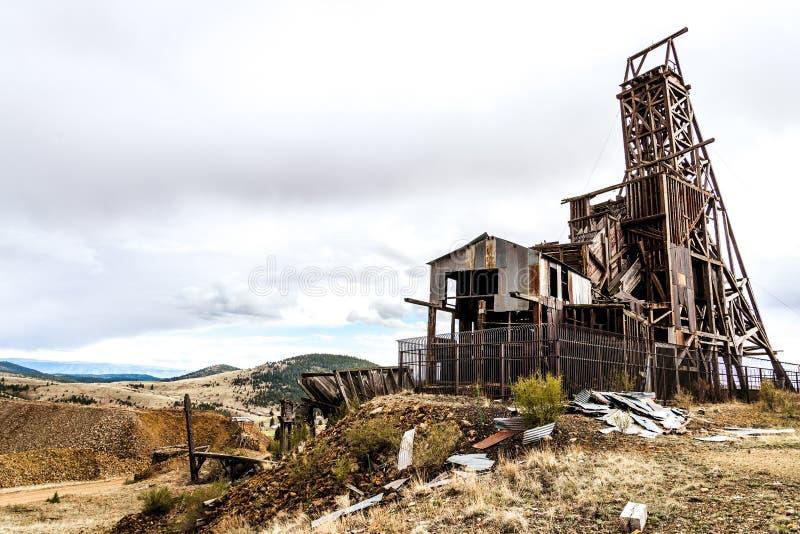 Mine d'or historique dans le vainqueur le Colorado photo libre de droits