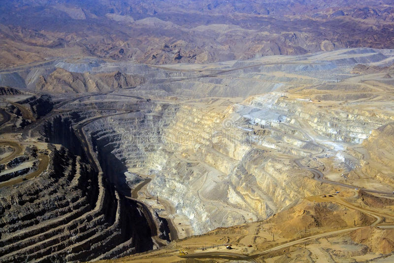 Mine d'uranium de Rossing images stock