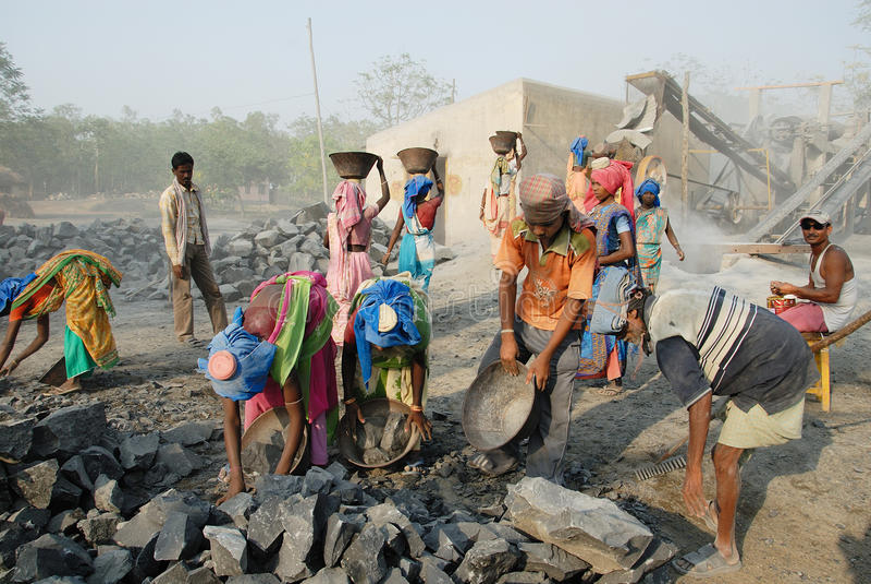 Mine de broyeur en Inde image libre de droits