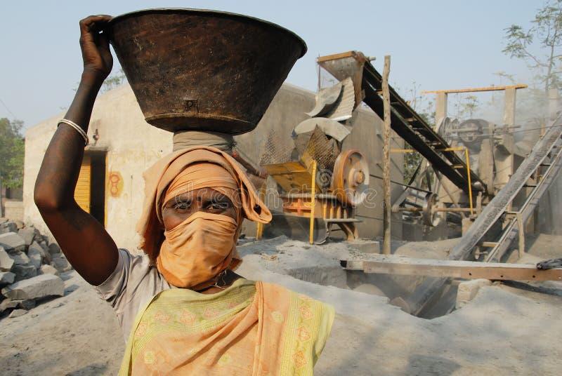 Mine de broyeur en Inde photo libre de droits