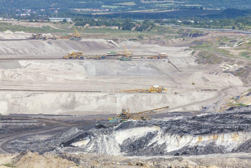 Mine de charbon, les la plupart, République Tchèque image libre de droits