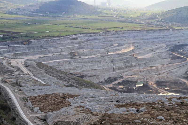 Mine de charbon Pljevlja photo stock