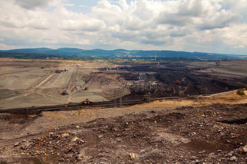 Mine de charbon, Sokolov, République Tchèque images stock