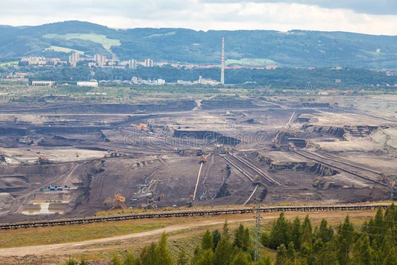 Mine de charbon, Sokolov, République Tchèque photo stock