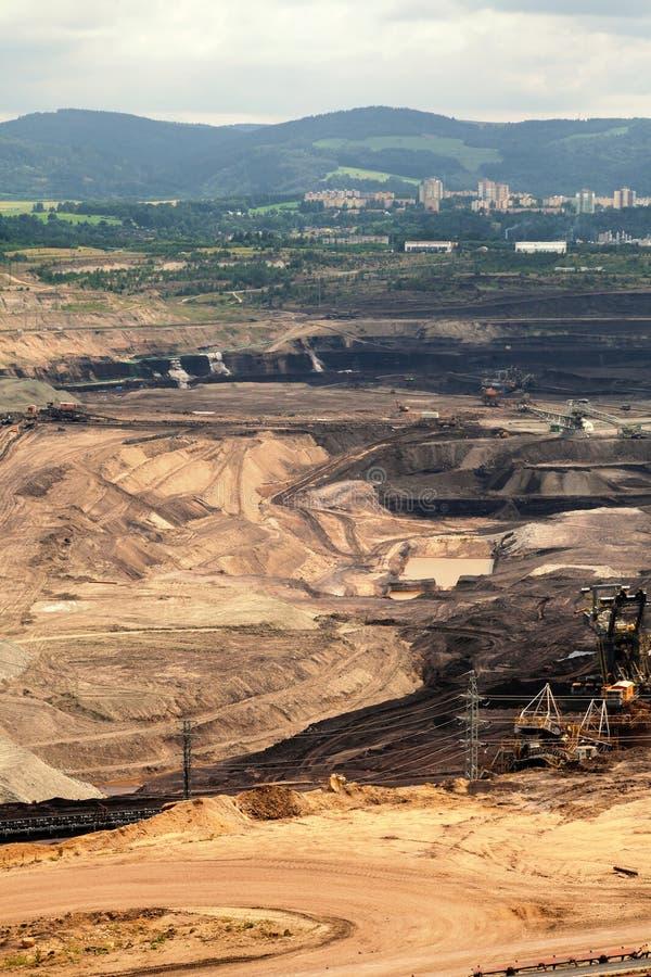 Mine de charbon, Sokolov, République Tchèque images libres de droits