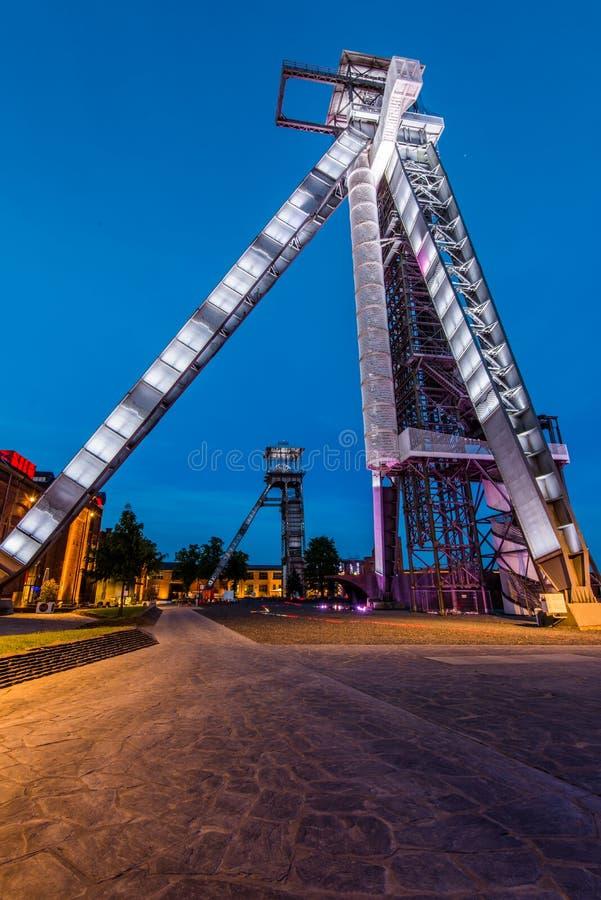 Mine de charbon Winterslag dans Genk, Belgique images libres de droits