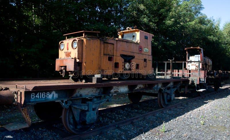 Mine de charbon Zollern - trains terminaux d'exploitation de bobineuse photo libre de droits