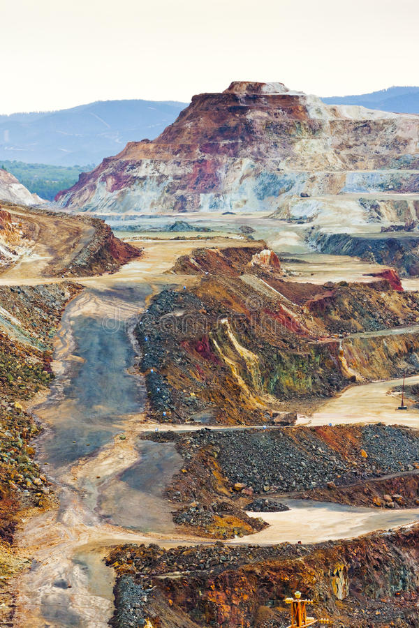 Mine de cuivre photo stock