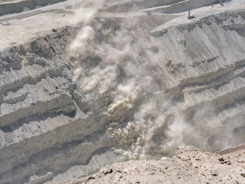 Mine de cuivre au Chili image libre de droits