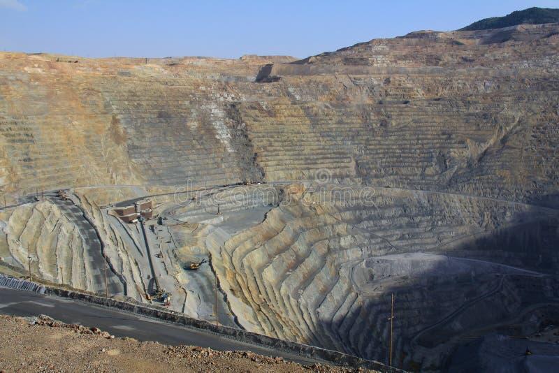 Mine de cuivre de Kennecott photo libre de droits