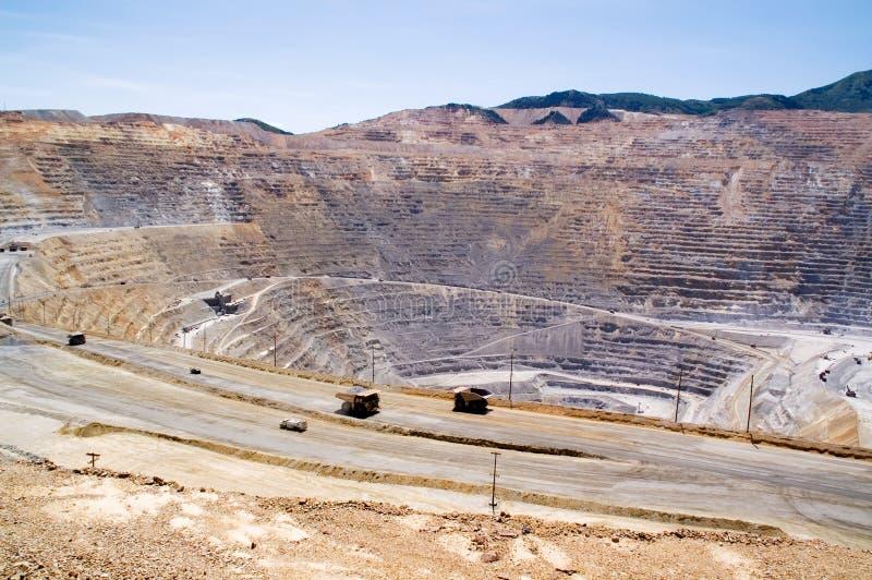 Mine de cuivre de Kennecott, Utah images libres de droits