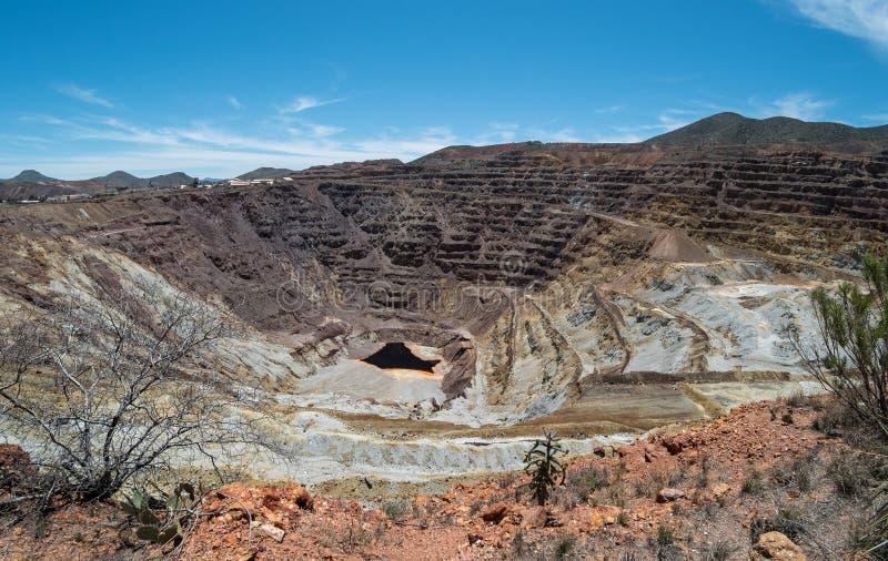 Mine de cuivre de lavande chez Bisbee, Arizona images libres de droits