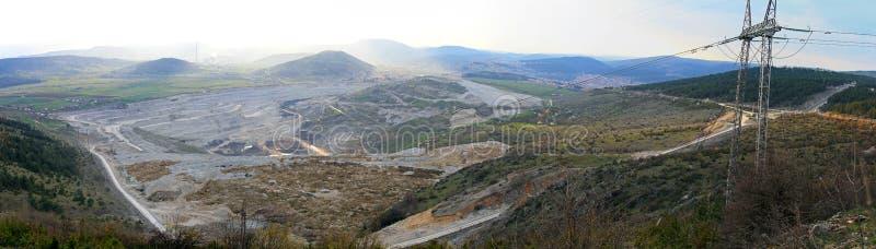 Mine de houille de Pljevlja photographie stock