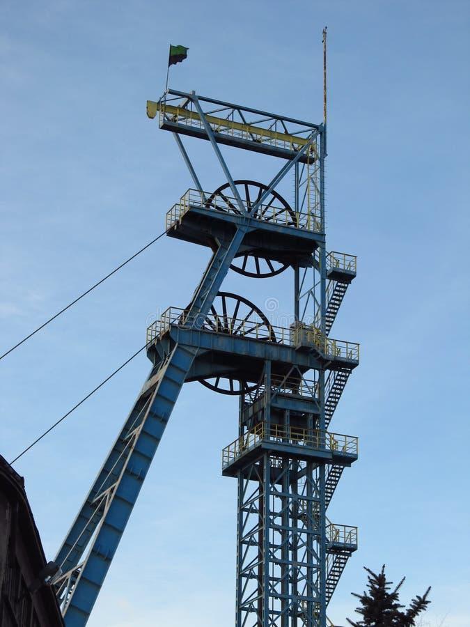 Mine de houille - tour d'arbre. photographie stock libre de droits