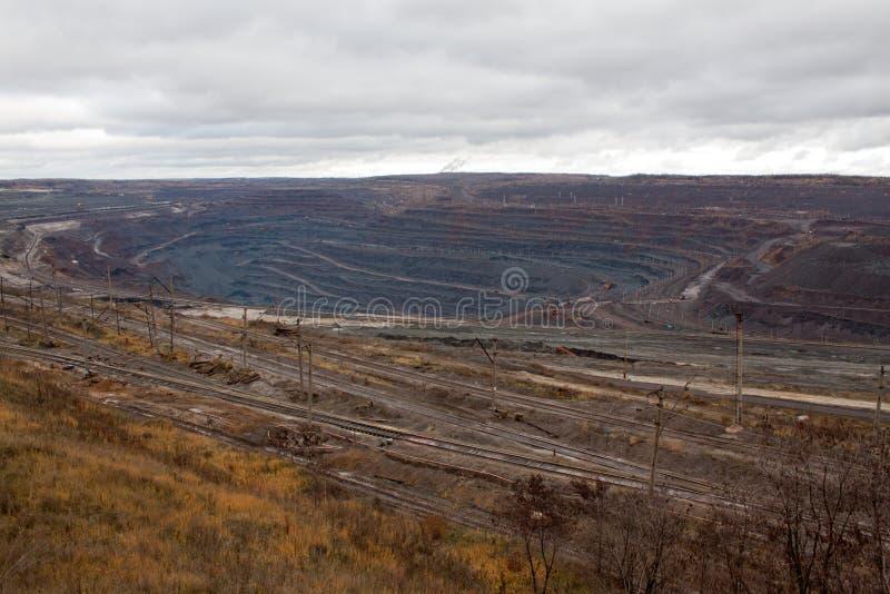 Mine de minerai de fer image stock