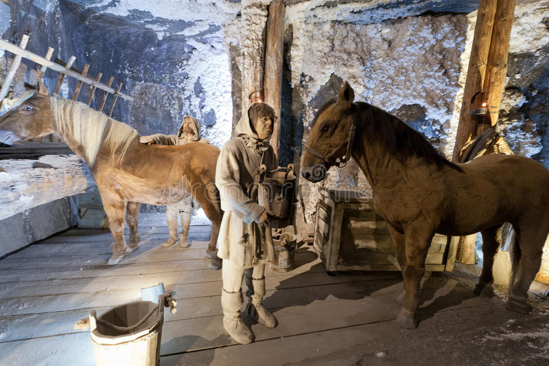 Mine de sel de Wieliczka photographie stock