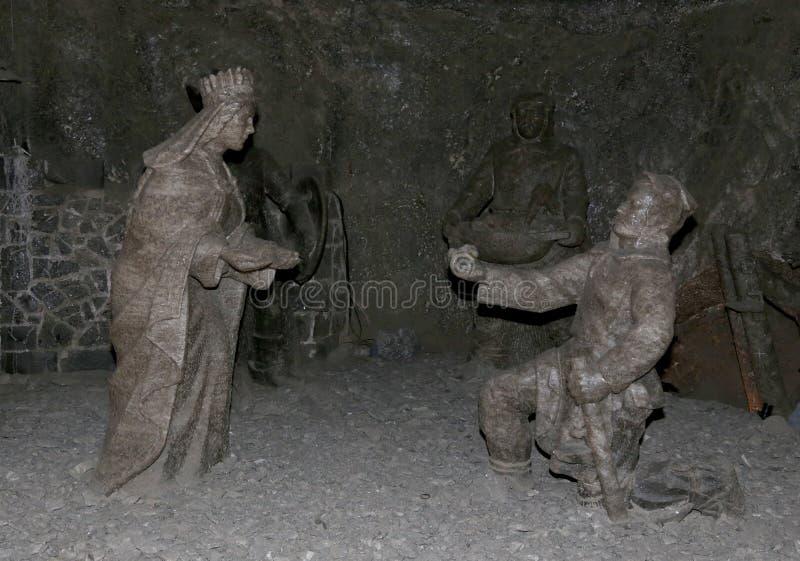 Mine de sel de Wieliczka Cracovie image stock