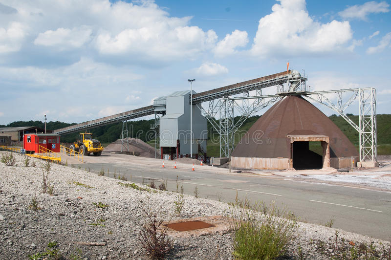 Mine de sel de Winsford images libres de droits