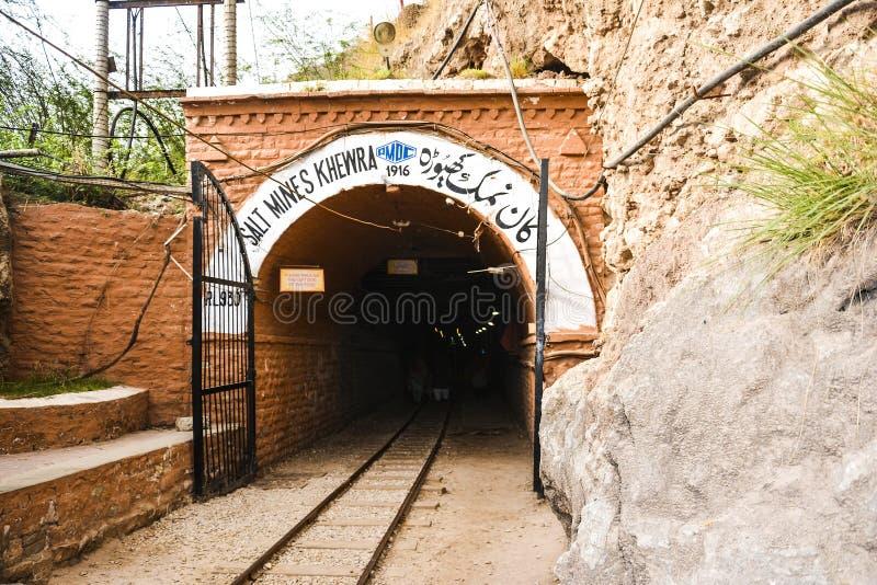 Mine de sel extérieure de Khewra de vue image libre de droits