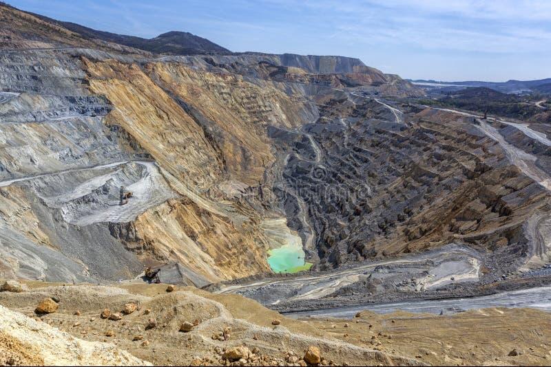 Mine de tonnelier - exploitation à ciel ouvert 3 photographie stock