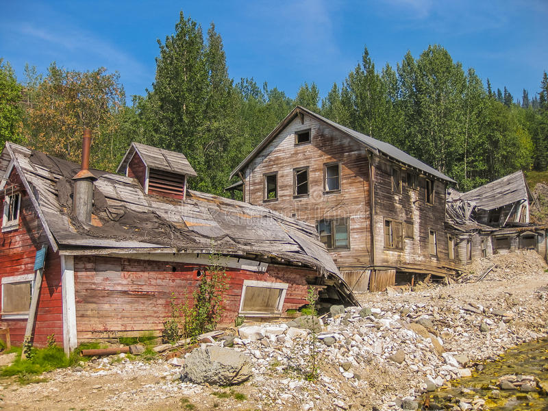 Kennicott Ghost Town stock photo