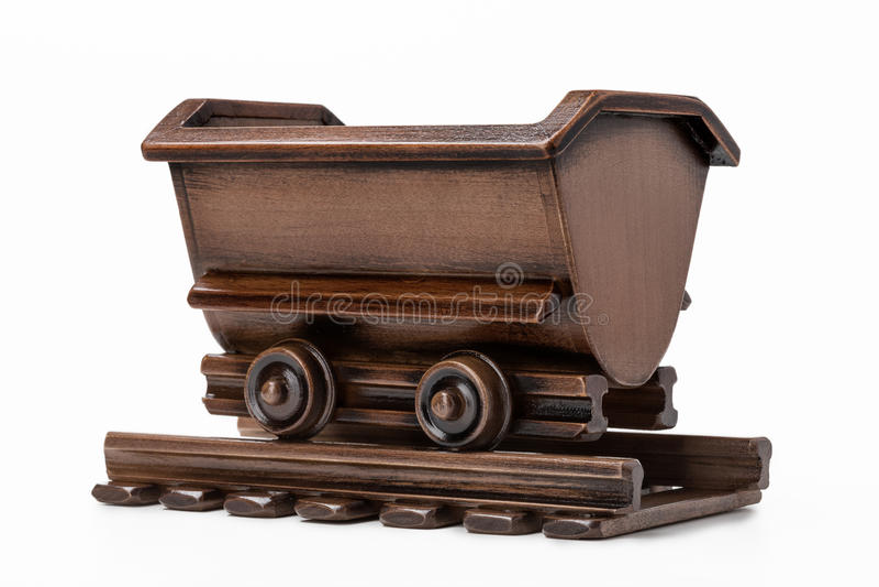 Mine el juguete del carro para transportar el carbón y el mineral foto de archivo libre de regalías