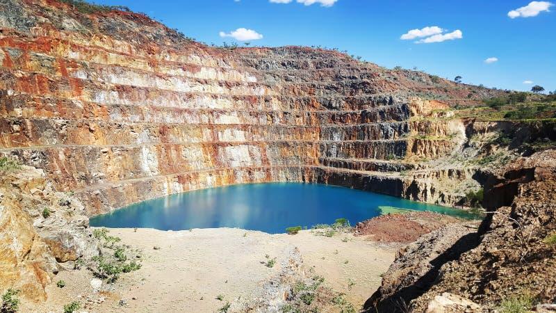 Mine en uranium abandonnée images stock