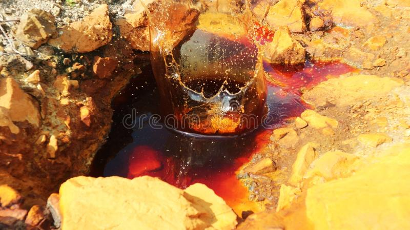 Death hole. Mine excavation. many deaths in this area royalty free stock photos