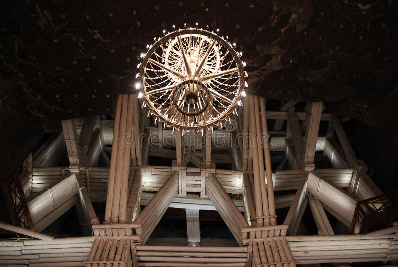 Mine structure. A salt mine structure in Poland royalty free stock photography