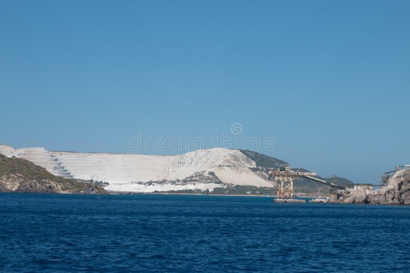 Mine sur une île images stock