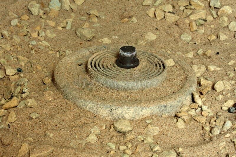 Mine terrestre d'IED photographie stock