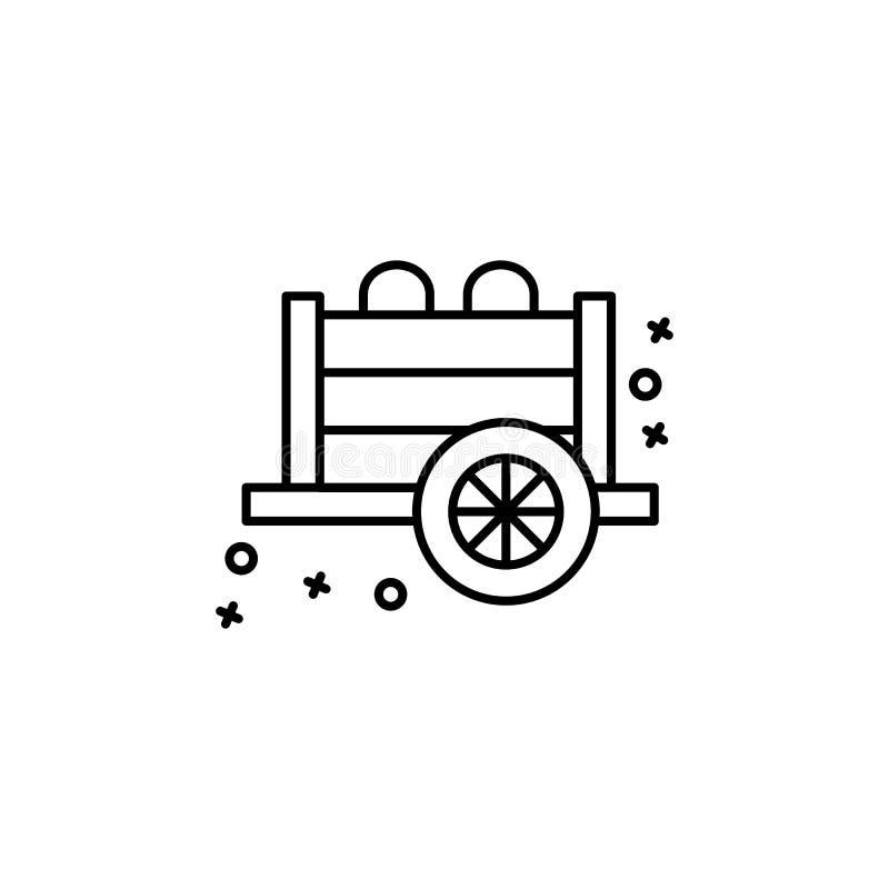 Mine wagon old history icon. Element of history icon stock illustration