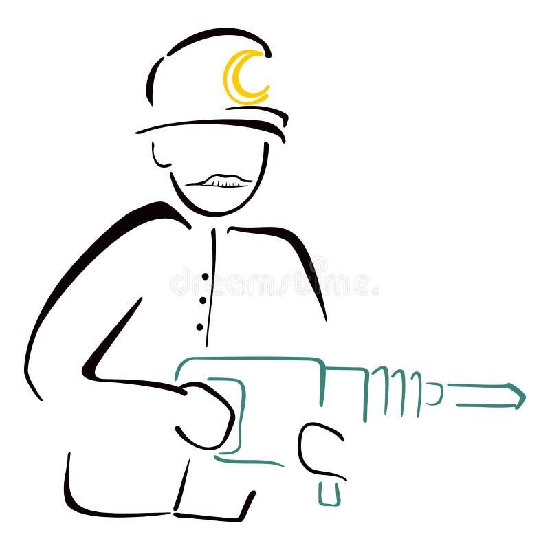Download Mine worker stock vector. Image of sketch, illustration - 34281468
