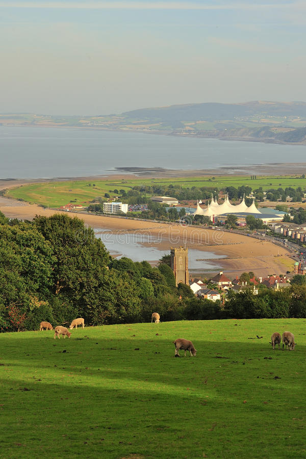 Minehead sjösidastad, Somerset royaltyfria foton