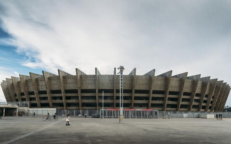Mineirao体育场在贝洛奥里藏特,巴西 库存照片