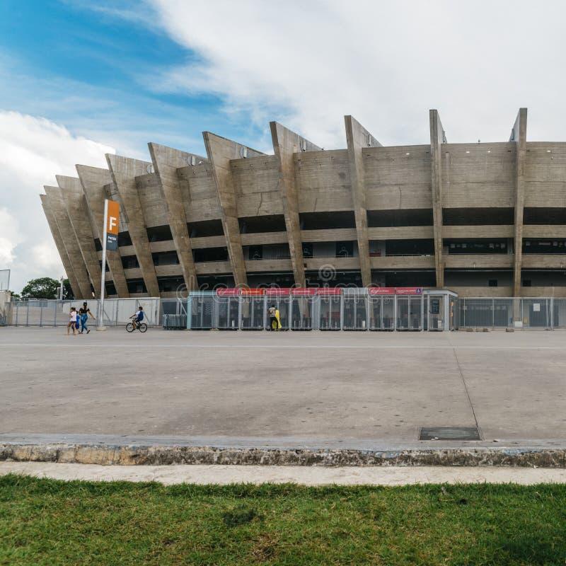 Mineirao体育场在贝洛奥里藏特,巴西 免版税图库摄影