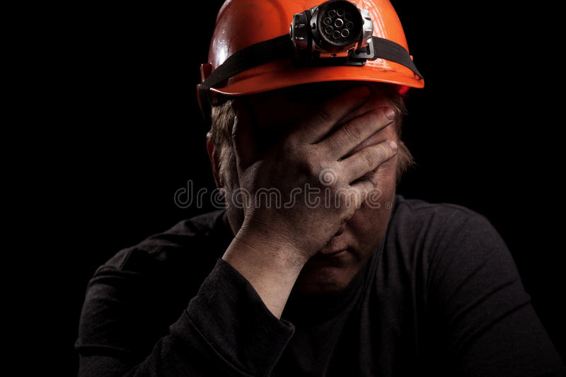 Mineiro de carvão imagens de stock