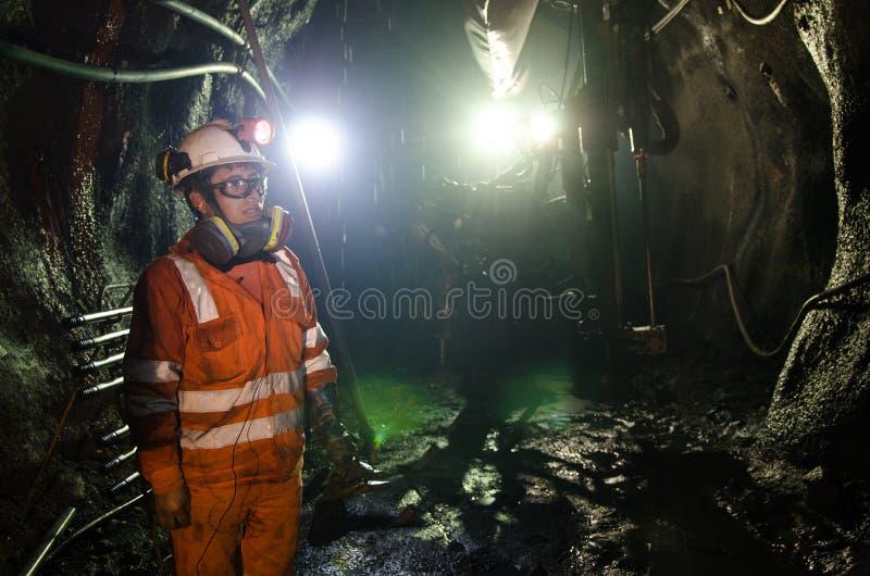 Mineiro na mina fotos de stock royalty free